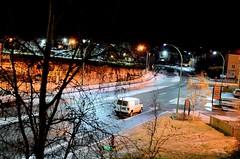 Window View (vincentret) Tags: nightshot 35mm f18 nikon d7000 night grass trees auto car lights