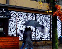 A rainy autumn day in Vancouver (peggyhr) Tags: peggyhr storefront people candid streetphotography bwpatterns rainy autumn leaves vancouver bc canada moss orange yellow green grey black white dsc09134a level1peaceawards thegalaxy super~sixbronzestage1 visionaryartsgallerylevel1 charliesgrouplevel1 artofimages~aoil1~ frameit~level01~ infinitexposurel1 thegalaxyhalloffame level2platinumpeaceaward niceasitgets~level1 thelooklevel1red thelooklevel2yellow thelooklevel3orange