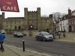 Castle (daveandlyn1) Tags: castle battle 1066 sx30is powershot canon bridgecamera road cars people