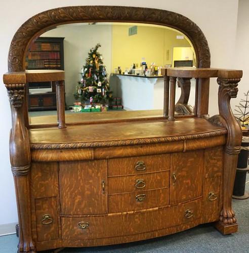 Oak Buffet Sideboard with Mirror ($728.00)