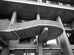 Lindermann Mental Health Center Stairs (iMatthew) Tags: brutalism brutalistarchitecture architecture bostonarchitecture boston governmentcenter bw