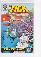 THE TICK 2016 LOCAL COMIC BOOK DAY THE TICK COMIC BOOK (vsndesigns) Tags: the tick pencil indie shocker gbjr toys with tie and tshirt zombie in a steel box fox promotional totally kids magazine 45 club spoon taco bell meal commercial eli stone ben edlund little wooden boy comic book merchandise rare limited edition 80s 90s collector museum naked super hero heroine funny comedy tv color thetick indoor surreal cartoon coffee mug ceramic cup black blue text poster illustration collection sketch cover white necpress