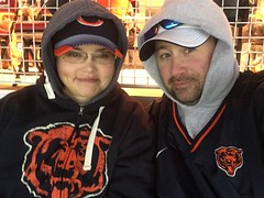me and nathalie. chicago bears vs 49ers. december 2016 (timp37) Tags: me nat nathalie chicago illinois december 2016 soldier field football nfl bears 49ers sanfrancisco