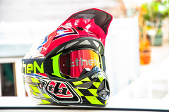 Troy lee designs Air Strike (iron_rider) Tags: d3 helmet carbon speed wing pinstripe