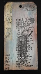 "Me llaman ""el loco"" (tonkinoise2012) Tags: tiempo dreamer loco crazy tissuetape stamper stamping stampersanonymous handmade ballon fly fou rveur tag homme hombre man texte texto text timholtz roue"