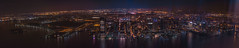 Jersey Pano (tausigmanova) Tags: panorama pano nikon d3300 manhattan new york city nyc urban skyline night nightphotoraphy world trade wtc freedomtower freedom tower oneworldobservatory longexposure