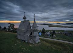 Nicholas Chapel (pavel iovik) Tags: dji phantom phantom3 kenozero church sunset cloud clouds architecture dron russia paveliovik iovik
