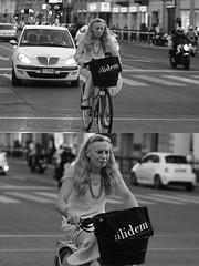 [La Mia Citt][Pedala] (Urca) Tags: milano italia 2016 bicicletta pedalare ciclista ritrattostradale portrait dittico nikondigitale mir bike bicycle biancoenero blackandwhite bn bw 907125 alidem