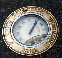 William Barthmans Clock in the Pavement Corner of Maiden Lane and Broadway. Downtown Historic New York November 2016 (48) (Richie Wisbey) Tags: new york famous clock sidewalk path barthmans jewellers watches ida wyman photograph 2016 november richard wisbey