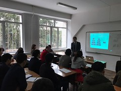 Lectures delivering on December 5th 2016 on Al Farabi Kazakh National University, Almaty