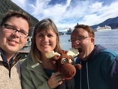 IMG_2480 1 (The Crochet Crowd) Tags: crochetmoose amigurumi moose crochet doll alaska britishcolumbia thecrochetcrowd michaelsellick jeannesteinhilber danielzondervan crochetcruise mooseontheloose