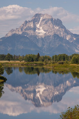 Mirror Reflection in Grand Teton National Park (Jeffrey Sullivan) Tags: grand teton national park grandtetonnationalpark landscape nature travel photography wyoming unitedstates roadtrip usa canon photo copyright 2008 jeffsullivan mountains reflection cokin