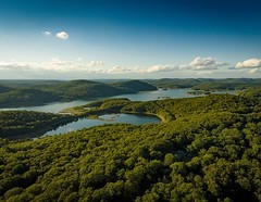 Wanaque Reservoir (back when it had water) #njphotographer #nj #reservoir #wanaquereservoir #njhighlands ##aerialphotography #drone #dronephotography (Arclight Images) Tags: nj photographer ny