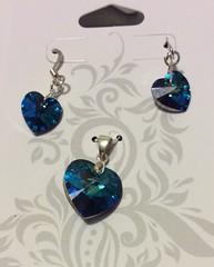 (BeveridgeDana) Tags: swarovski earrings necklaces crystalheart heartsnhangups
