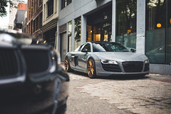 Wrap-Workz Audi R8 V10 (Brandon Dy Tang) Tags: street canada cars vancouver photography nikon downtown photographer photoshoot wheels fast automotive exotic audi gastown luxury r8 audir8 wrapworkz brixtonforged