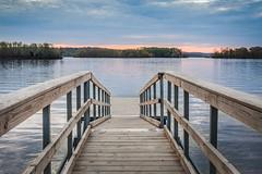 TN River at Harmon's Creek (Elizabeth_211) Tags: water sunrise river landscape dock tennessee 28mm tennesseeriver jacksontn 70d lakegraham westtn sherielizabeth