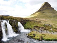 Kirkjufell with its waterfalls infront!