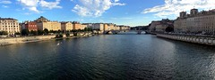 The lazy Sane (oobwoodman) Tags: panorama france river frankreich lyon pano fluss fleuve sane