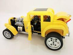 32 ford open (Brick Flag) Tags: ford 1955 car 1932 model automobile milner lego chevy coupe deuce georgelucas moc cheverolet americangraffiti falfa thx138