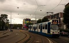 Uit en In. (Peter ( phonepics only) Eijkman) Tags: city holland netherlands amsterdam transport nederland tram rail bn rails trams noordholland gvb nederlandse