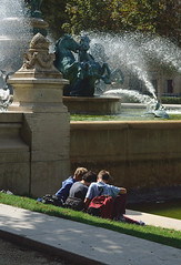 Eight horses in the fountain. (Norin T) Tags: school students outdoor