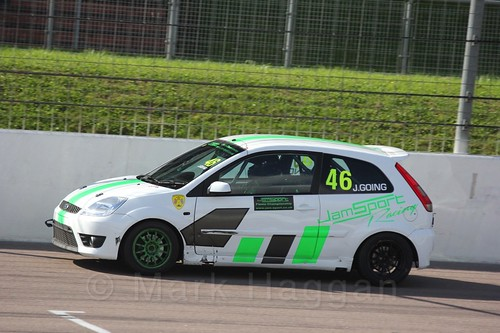 Jamie Going in Fiesta Racing at Rockingham, Sept 2015