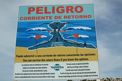 Warning (Steve Dawson.) Tags: sea beach yellow warning canon eos is spain sand waves flag september espana usm ef28135mm 12th menorca minorca sonbou balearicislands 2015 f3556 50d ef28135mmf3556isusm canoneos50d