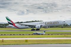 Emirates Boeing 777-31H/ER A6-ENN (Mark_Aviation) Tags: park airplane manchester airport aircraft aviation aeroplane emirates international boeing visitor runway avp aerospace rvp ringway 2015 77731her a6enn