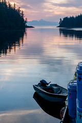 Still Waters (JJ Photog) Tags: ocean sunset sea island still ship pacific northwest southeast skiff pnw totes baranoff
