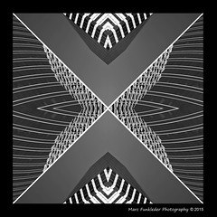 Kaleidoscope_3a (Marc Funkleder Photography) Tags: california city urban blackandwhite building geometric motif monochrome architecture composition oakland nikon unitedstates d70 noiretblanc nikond70 symmetrical ville immeuble californie urbain abstrait symtrie etatsunis surraliste gomtrique bordure symtrique