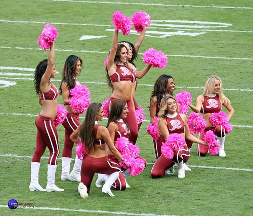 Redskinette Cheerleaders show their pride...