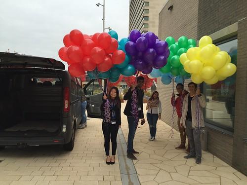 Heliumballonnen Erasmus University Rotterdam