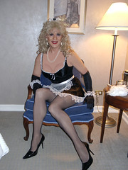 French Maid - Blonde (xgirltv1000) Tags: halloween french transformation tgirl transgender dragqueen maid crossdresser tg mtf transformista transwomen transformisto