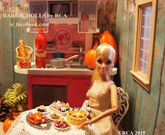 HAPPY THANKSGIVING 2015  (Barbie dolls by RCA) Tags: hello thanksgiving food cake turkey bread miniature doll barbie kitty cupcake rement dollhouse 2015