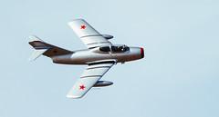 MiG-15 3 (sjreed77) Tags: aircraft flight airshow soviet southport mig15