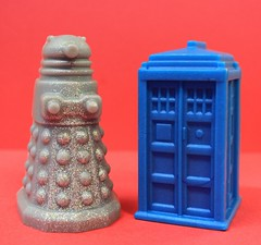 Doctor Who Set (2 pcs.) $3.00 (Clelian Heights) Tags: doctorwho dalek tardis soaps blueeagle decorativesoaps cleliansoaps cleliancenter