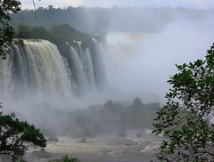 Brazil (Iguacu) Brazilian side of Misty Iguacu Falls