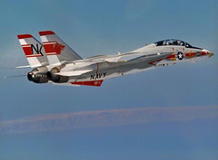 VF-1 F-14A Tomcat BuNo 158627 (skyhawkpc) Tags: airplane inflight aircraft aviation navy naval usnavy usn 1973 tomcat grumman f14a 158627 nk101 vf1wolfpack