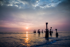 Perfect Sunset (Simplysafi Photography) Tags: pink sunset sea india beach canon photography evening waves south kerala arabian calicut kozhikode simplysafi simplysafiphotography simplysfiphotography