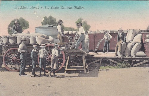 Trucking wheat at Horsham Railway Statio by Aussie~mobs, on Flickr