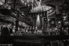 SInce 1845 (Scrufftie) Tags: uk england blackandwhite bw london monochrome canon pub unitedkingdom gb cityoflondon niksilverefexpro2 nikdfine2 nikcollection photoshopcc canong7x