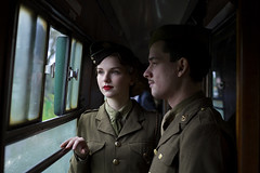 Christmas Leave (andrew_@oxford) Tags: christmas heritage leave vintage railway line 1940s reenactment mid reenactors watercress hants