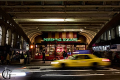 The Pershing Square, a New York's postcard