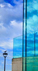 BRYAN_20161010_IMG_9337 (stephenbryan825) Tags: liverpool museumofliverpool abstracts architecture blue buildings clouds contrast glass graphic green reflection selects sky vivid