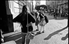 (Upskirt) (Robbie McIntosh) Tags: leicamp leica mp rangefinder streetphotography 35mm film pellicola analog analogue negative leicam analogico blackandwhite bw biancoenero bn monochrome argentique dyi selfdeveloped filmisnotdead autaut candid strangers leicaelmarit28mmf28iii elmarit28mmf28iii elmarit 28mm arsimagofd arsimagofddeveloper arsimagofd139 kodaktrix kodak trix kodaktrix400 girl woman actress fiction movie sirene skirt