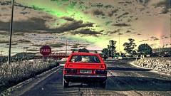 (gesielfreire) Tags: street roads car art collor red