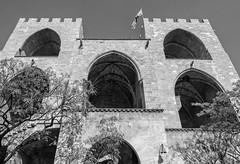 Torres de Serranos ( Porta de Serrans) 14th Century Christian City Gate (Valencia - Spain) (BW) (Olympus OMD EM5II & mZuiko 12-40mm f2.8 Pro Zoom) (markdbaynham) Tags: valencia valencian spain spainish city urban metropolis street es espana espanol oly olympus omd em5 em5ii csc evil mirrorless mft m43 m43rd micro43 micro43rd microfourthirds mz zd mzuiko zuikolic zuiko 1240mm f28 pro zoom