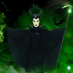 Happy Halloween my pets!  - The Mistress of all Evil!  (jlantistoys) Tags: photography collection collector toys disneystore dolls doll villain disneyvillain maleficent angelinajolie disney halloween