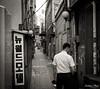 Alleyway man (gunman47) Tags: asia b bw insadong korea korean mono monochrome rok republic seoul sepia south w alley alleyway back black gil man photography street surreal white 서울 인사동 ìì¸ ì¸ì¬ë southkorea people