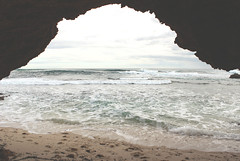 Arch on the ocean beach (Julia_Kul) Tags: outdoor gorgeous arch coast australia cave stone shore natural travel view rock sand sunny horizon scenery summer wave southern beach blue cyprus sunset melbourne seascape sky scenic cliff tourism mediterranean sea scene victoria beautiful background surf water malta nature coastline vacation rye europe landscape ocean ayia protaras peninsula mornington